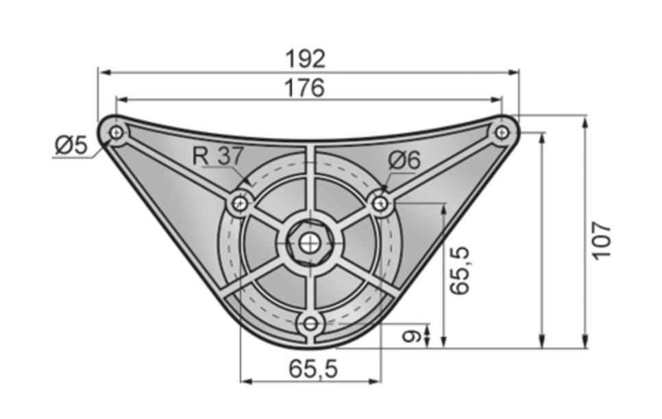 1-4 Stück Tischbein Tischfuss Schreibtischbein 60mm Ø AN60
